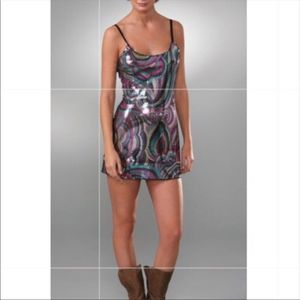 Intimately Free People Rare Sheer Sequin Mini